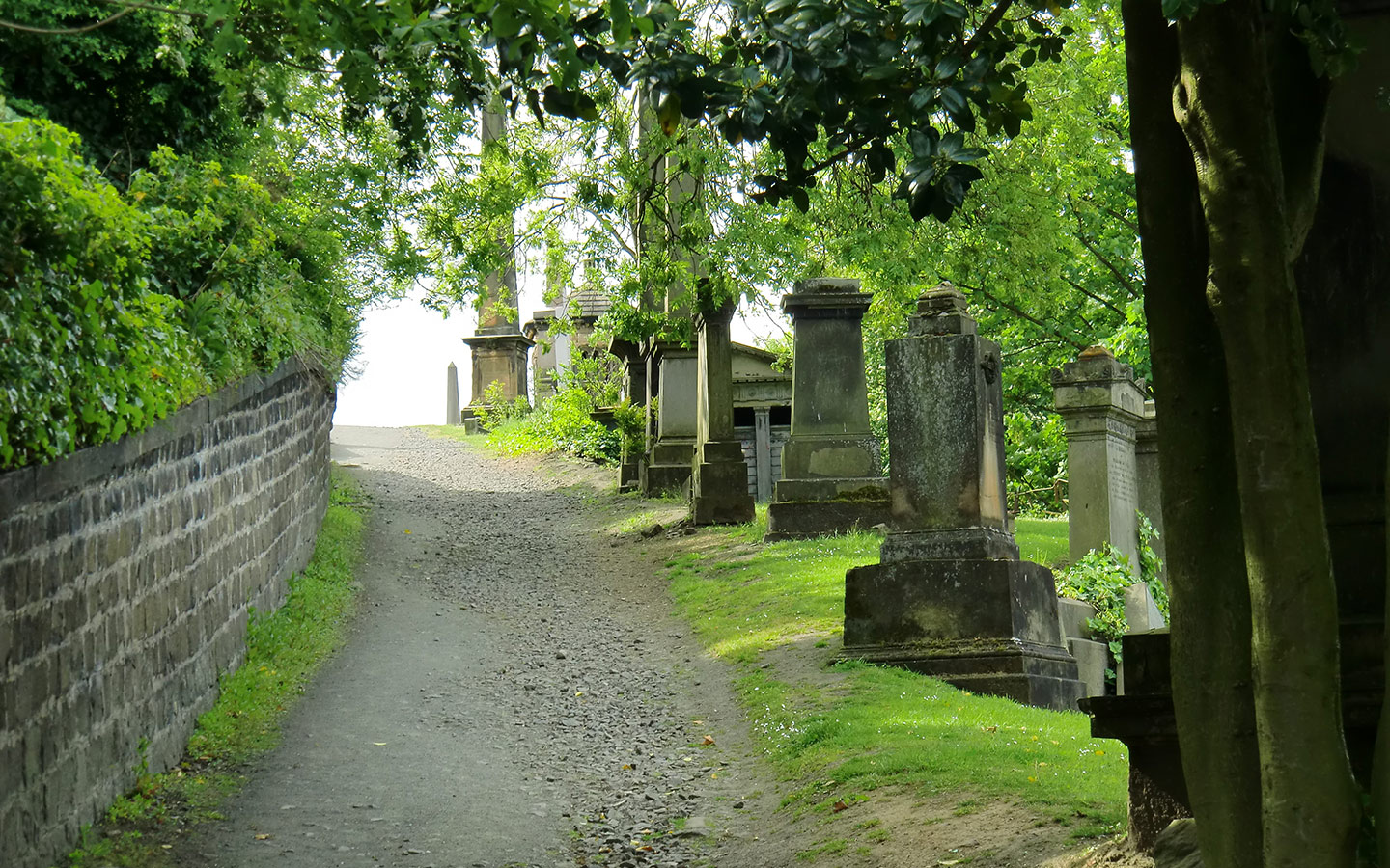 ascent to a cemetery